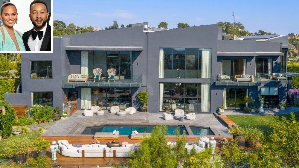 John Legend și Chrissy Teigen și-au vândut casa din Beverly Hills cu 16,8 mil. $. Imagini spectaculoase din interior!